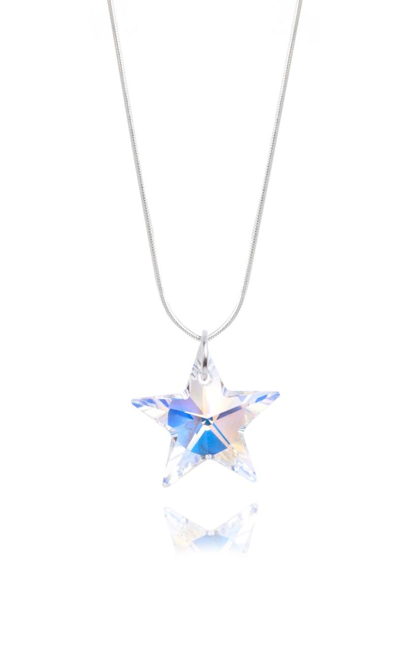 SWAROVSKI Crystal Star Sterling Silver Necklace Pendant in AB image 0