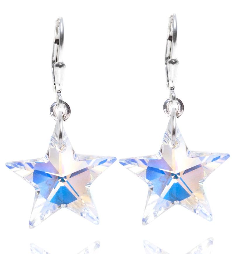 Wedding / Prom / Birthday SWAROVSKI Crystal Star Sterling image 0