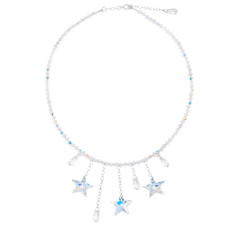 Wedding / prom Swarovski Crystal Shooting Star Necklace in image 0