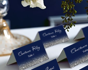 Place Cards Wedding Name Cards Navy Blue Cards with Gold Foil place cards Placecards Escort Cards SALE Wedding Place Cards