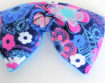 Eye Pillow Microwave Hot/Cold Pad, Migraine/Sinus Pain Relief Rice Pack, ,Yoga Pillow, Pink/Blue Flowers  Cotton Flannel Rice Pad