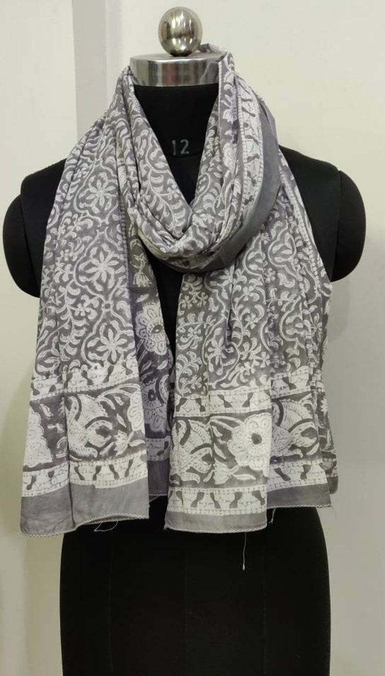 e7a18e151d1 Handmade block print natural dye sarong , cotton floral print scarf,  handblock print with natural plant based dye pareo.