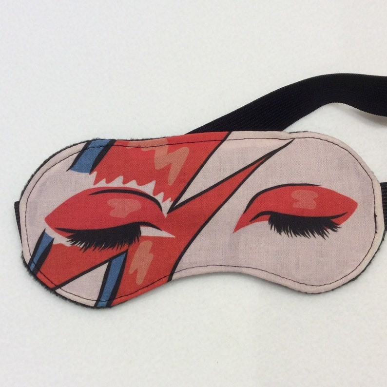 David Bowie/Aladdin Sane/ Inspired Sleep Mask/Eye Masks/Travel image 0