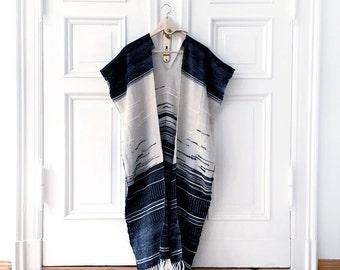 Handwoven cape, Blanket poncho, Woven jacket, Handwoven poncho, Oversized wall art, Woven wall hanging, Ethical fashion, Boho style jacket