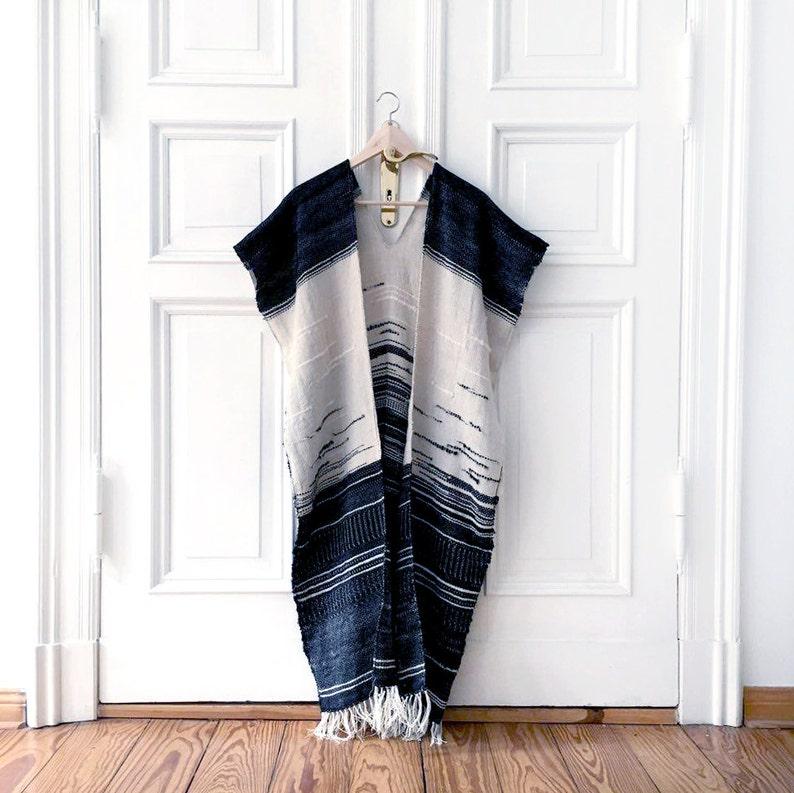 Handwoven cape Blanket poncho Woven jacket Handwoven image 0