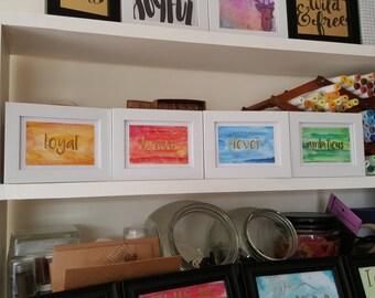 """Four house print set - 5x3"""" set of four"""