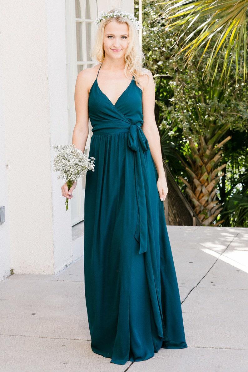 Bridesmaids Dresses,Wrap Dresses,Green Bridesmaids Dresses,Bridesmaids Dress Sleeved,Casual Bridesmaids,Bridesmiads Gown,Maxi Wrap Dresses