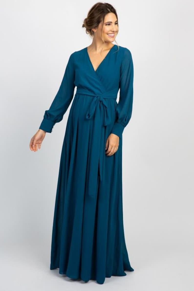 Bridesmaids Dresses, Long Dress, Maxi Wrap Dress, Maxi Summer Dress,  Wrapdress, Maternity Dress, Plus Size Dress, Wrap Dresses, Custom Dress