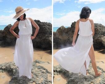 Long Dress, Maxi Summer Dress, Beach Dress, Beach Cover up, White Dress, Resort Wear