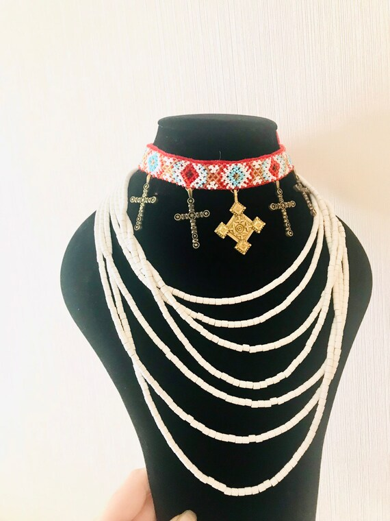 Ukrainian jewelry Ukrainian necklace Ukrainian mu… - image 2