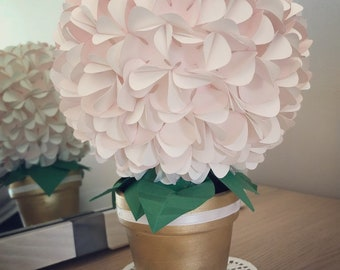 Paper flower topiary etsy more colors mini topiary wedding mightylinksfo