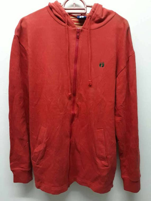Vintage 90s Rare Hang Ten sweater hoodies with stripe color inside