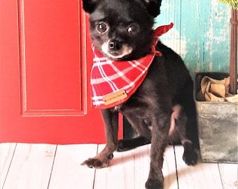 Plaid Dog Bandana Dog accessory Dog Mom Gift For Dog Rescue, Dog Dad Dog Bandana Green Dog Bandana Dog Bandanna