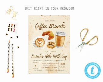 coffee invitation etsy