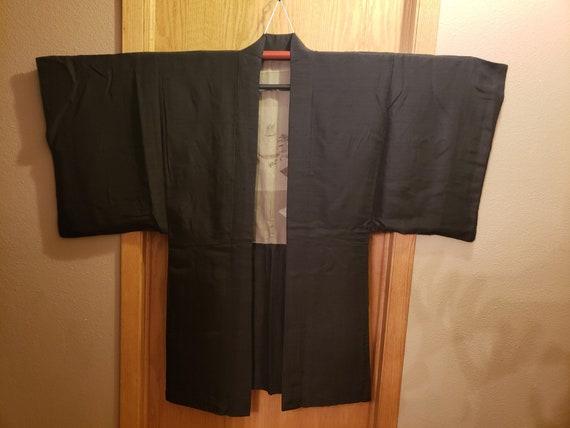Authentic Vintage Japanese Men's Silk Haori