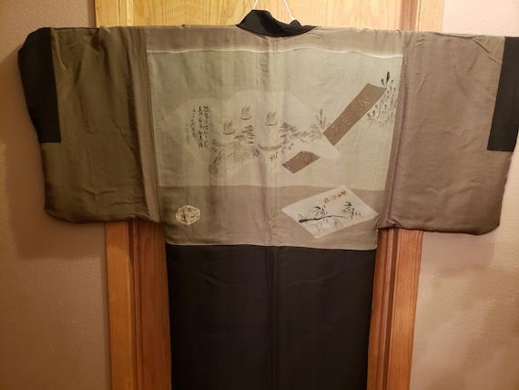 Authentic Vintage Japanese Men's Silk Haori - image 4