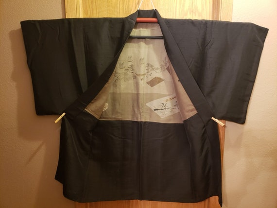 Authentic Vintage Japanese Men's Silk Haori - image 2