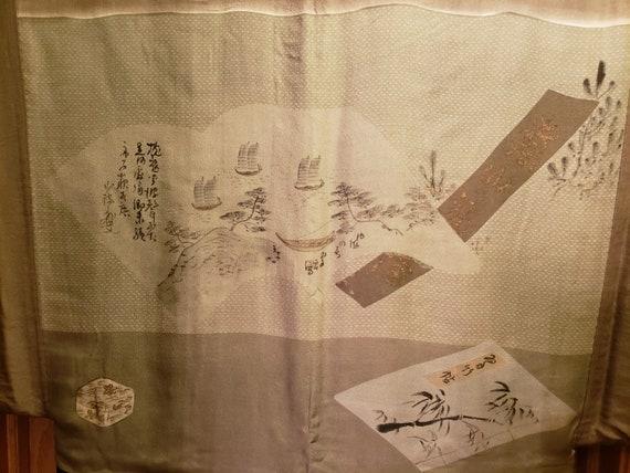 Authentic Vintage Japanese Men's Silk Haori - image 5