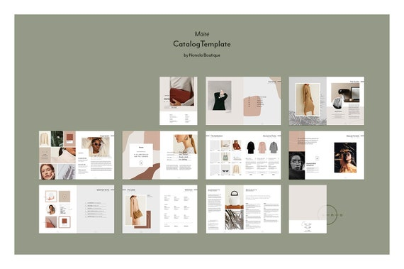 Lookbook Template Catalog Portfolio Design Brochure 4 Fashion Brands Printable Magazine Template Lifestyle Catalog Design Maïté