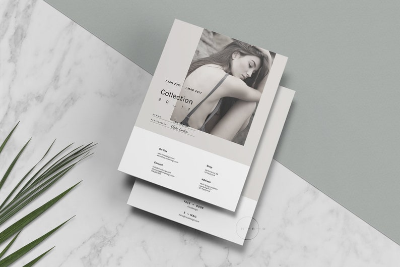 Editorial Catalog Magazine Template Psd Lookbook Template Etsy