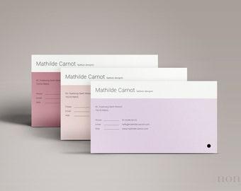 Simple Business Card Template 3pk — Minimal Business Card Design — Clean Personal Card — Feminine Calling Card — Printable BC • Mathilde