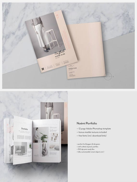 portfolio magazine psd template lookbook template for etsy