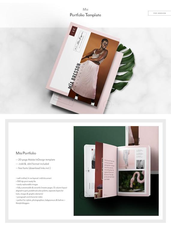 catalog portfolio template fashion lookbook template 4 etsy