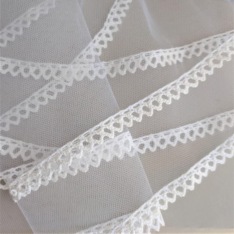 First Communion Veil Comb Scalloped Lace Simple Plain Velos de Primera Comunion