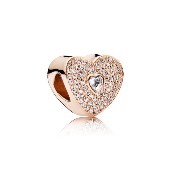 8eecac83b ... where can i buy authentic pandora rose gold radiant hearts pink charm w  clear etsy 4cbed