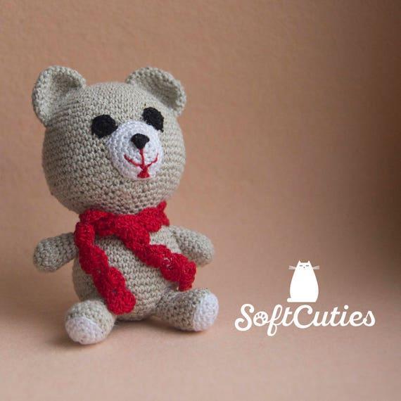 Häkeln Sie Amigurumi Teddybär. Stricken Sie Spielzeug Bär.   Etsy
