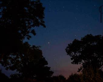 Night Sky With Mars