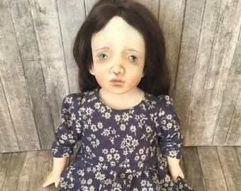 Art doll, OOAK art doll, Handmade doll, Artist clay doll,