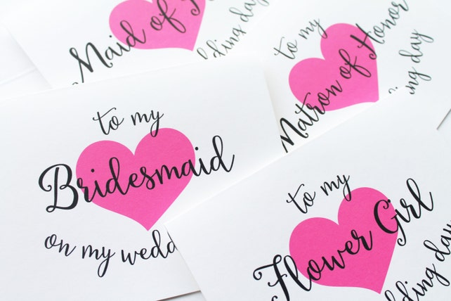 Bridal Party Thank You Cards To My Maid Of Honor Card To My