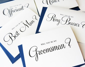Will You Be My Groomsman Card, Will you be my Best Man card, Usher, Ring Bearer, Way to Ask the Guys, Best man Proposal - Single, WFS01