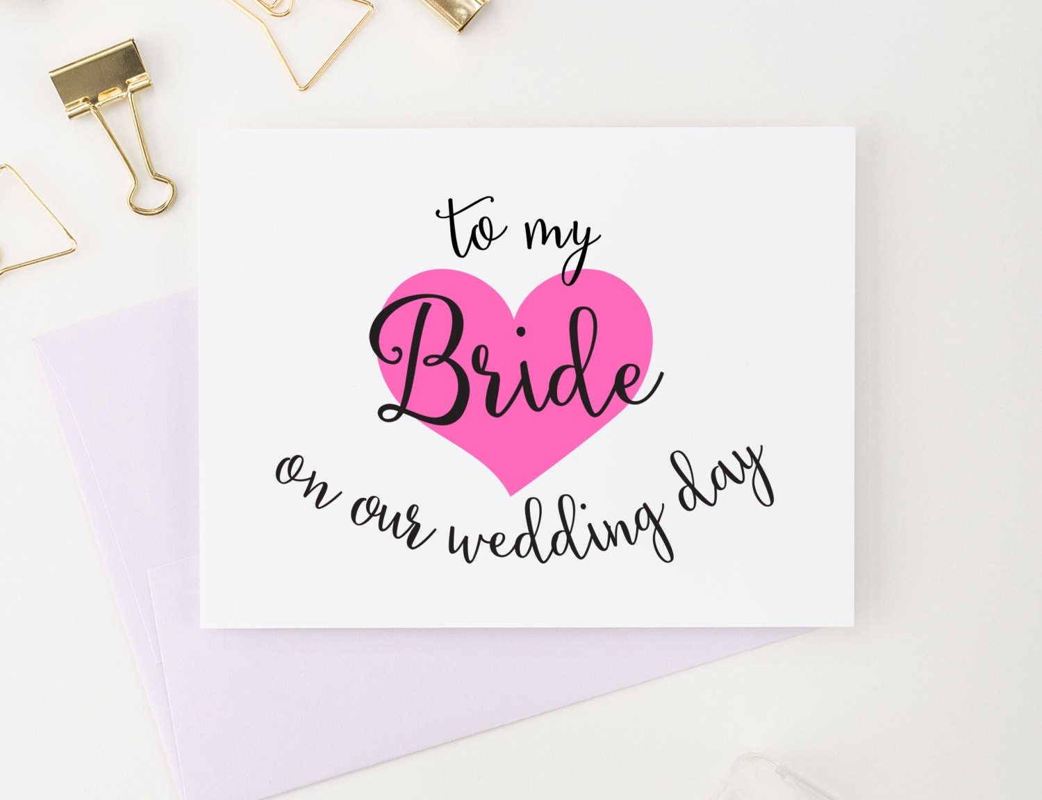 To my Bride on our wedding day Card To my Bride Card Wedding | Etsy