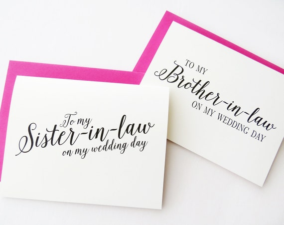 to my sister in law on my wedding day to my brother in law on etsy
