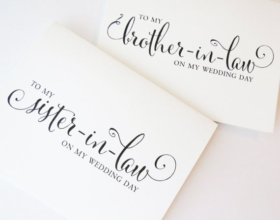 to my sister on my wedding day to my brother on my wedding etsy