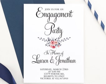 Rustic Engagement Party Invitation, Engagement Announcement, Wedding Party Invitation, Wedding Announcement, Engagement Invite,