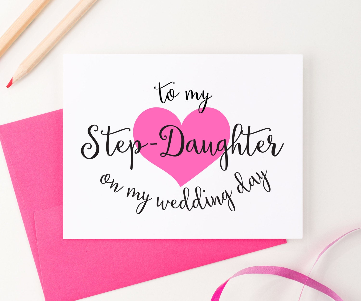 To my Step-Daughter on my Wedding Day To my Step son on my | Etsy