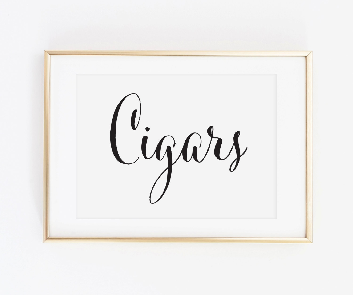 Wedding Cigars Table Sign Wedding Cigar Bar Wedding Table Etsy
