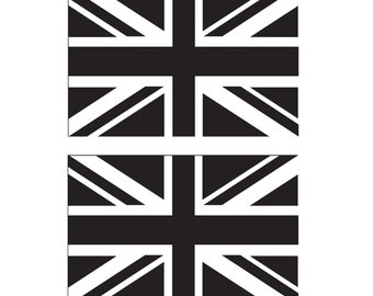 British UK Themed Vinyl Sticker 16cm x 9cm each ST GEORGE/'S FLAG ENGLAND