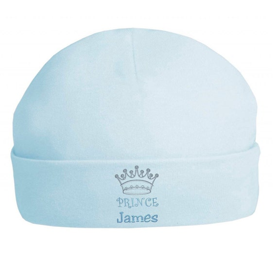 Personal Embroidered Baby Prince Hats Christening   Birthday  0b7929a7c243