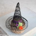Halloween Newborn Toddler Child Witch Hat, Autumn Witch Hat, Witch Hat Photo Prop, Gothic Photo Prop, Baby Witch Hat