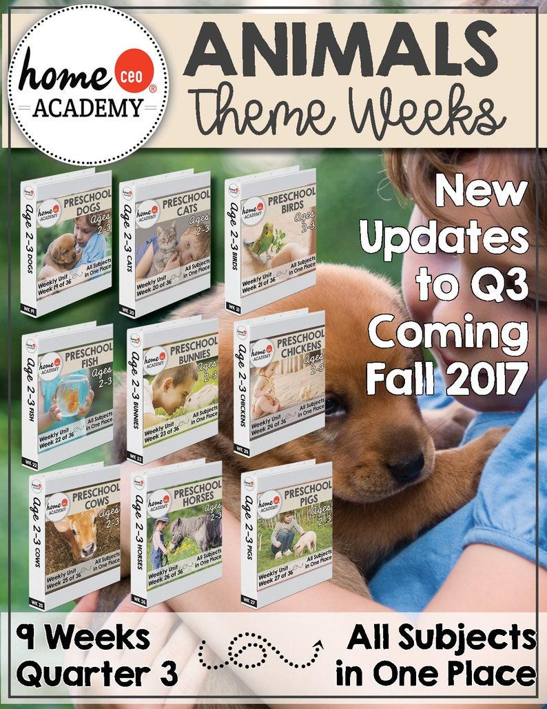 Homeschool Preschool Curriculum Age 2-3 Complete Year ...