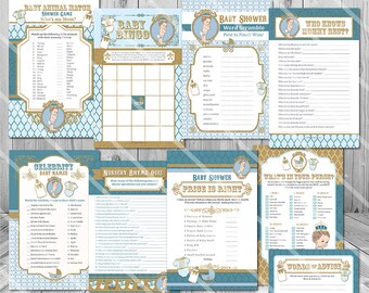 Monsters Inc Baby Shower Games Printables Monster Baby Shower Etsy
