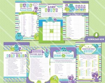 Twin Monkey Baby Shower Games Boy And Girl Monkey Baby Shower Etsy