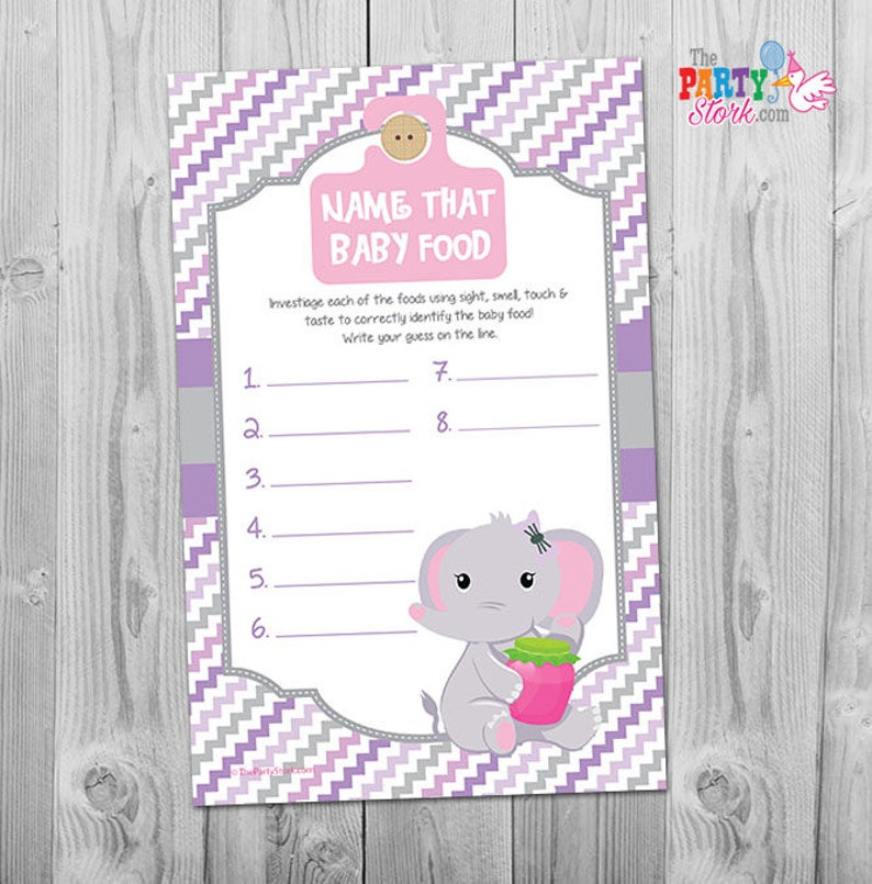 photo relating to Baby Food Game Printable identified as Bet that Little one Foods Sport, Track record that Boy or girl Foodstuff Activity Printable, Popularity that Youngster Food items Shower Activity Template, Printable Elephant Boy or girl Shower Match