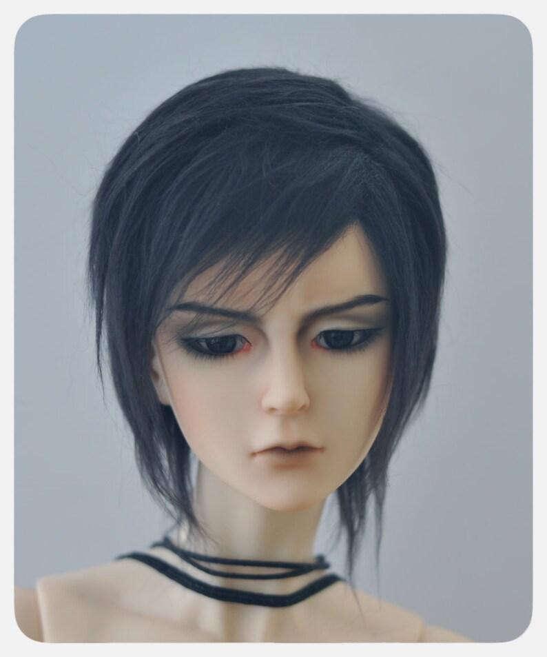 Simple BJD wig size Yosd 70+  faux fur Red White Black Brown MSD SD