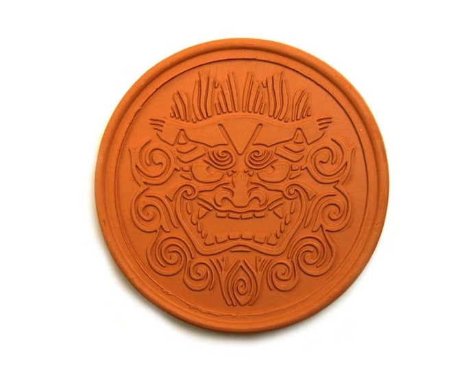 Coaster made of roof tile clay from Okinawa| Made in Okinawa | Shisa