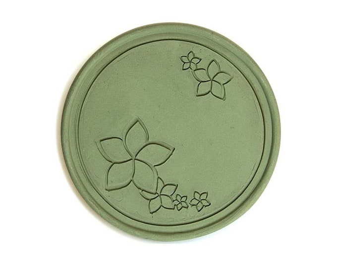 Coaster made of roof tile clay | Plumeria